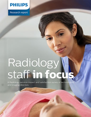 Radiology staff in focus